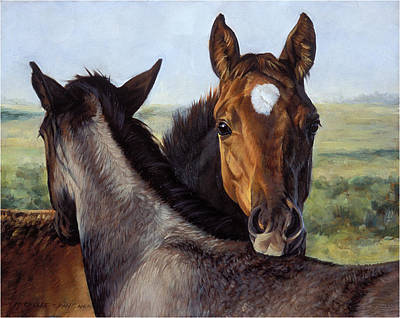 Horse Art Painting - You Scratch Mine by JQ Licensing