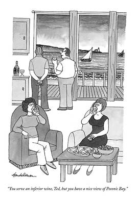Talking Friends Drawing - You Serve An Inferior Wine by J.B. Handelsman