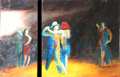 Painting - You Shine  Diptych by Keith Thue
