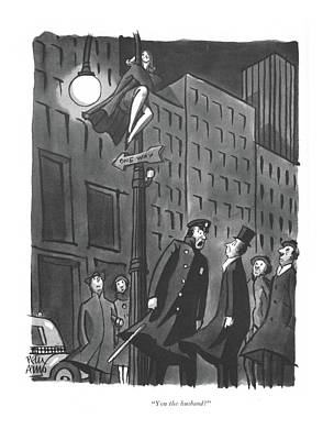 Drawing - You The Husband? by Peter Arno