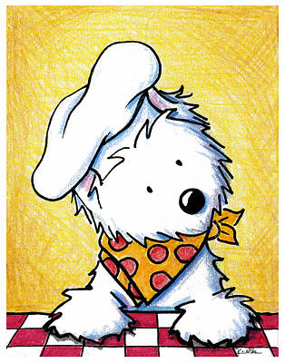 Westie Terrier Painting - You Wanna Pizza Me by Kim Niles