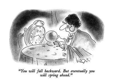 Spring Drawing - You Will Fall Backward.  But Eventually by Arnie Levin