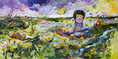 You Will Find Me By The Brook Where The Butterflies Live Art Print by Ginette Callaway