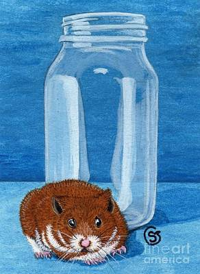 Hamster Painting - You Won't See Me In That Jar by Sherry Goeben