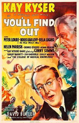 Horror Movies Photograph - Youll Find Out, Us Poster, From Top by Everett