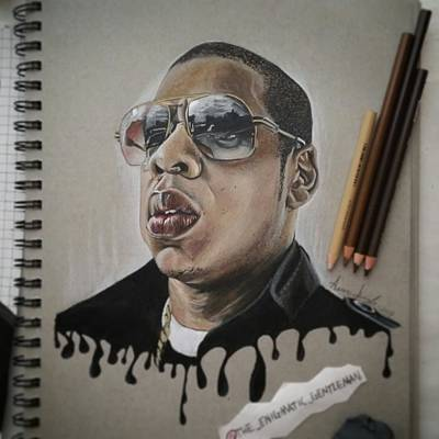 Jay Z Drawing - Young by Aaron Ingle
