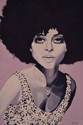 Diana Ross Painting - Young And Beautiful Diana by Lakeisha Phillips