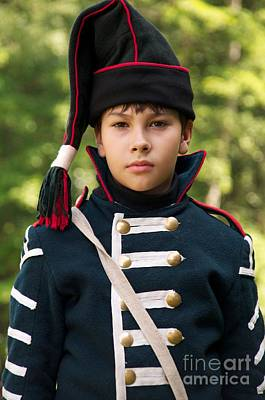 Historical Re-enactments Photograph - Young Arilleryman by Aleksey Tugolukov
