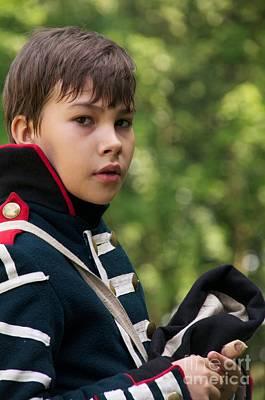 Re-enactments Photograph - Young Artilleryman by Aleksey Tugolukov