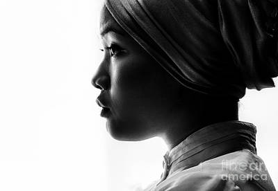 Young Asian Woman In Turban Print by Avalon Fine Art Photography