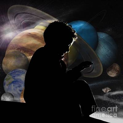 Young Astrophysicist - No.9188 Art Print by Joe Finney