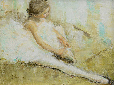 Painting - Young Ballerina 2 by Chisho Maas