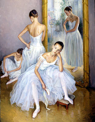 Young Ballerinas Art Print
