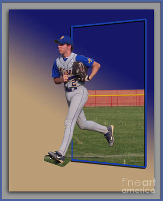 Young Baseball Athlete Art Print by Thomas Woolworth