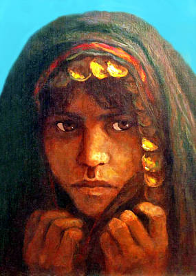 Painting - Young Bedouin by Munir Alawi