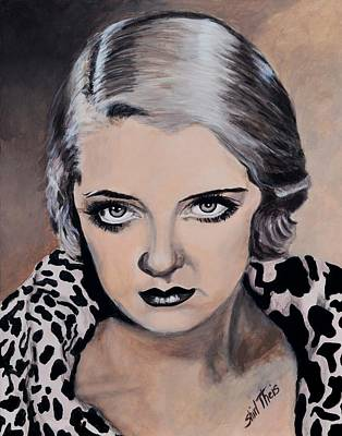 Painting - Young Bette Davis by Shirl Theis