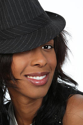 Photograph - Young Black Woman In A Hat by John Orsbun