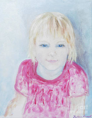 Young Blue-eyed Girl  Art Print by Barbara Anna Knauf