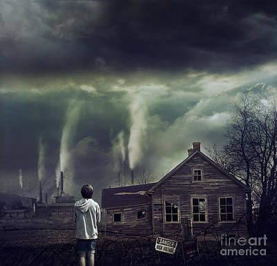 Photograph - Young Boy Looking At Dramatic Scene In Front Of Him by Sandra Cunningham