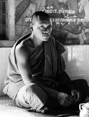 Young Buddhist Monk Art Print by Alexey Stiop