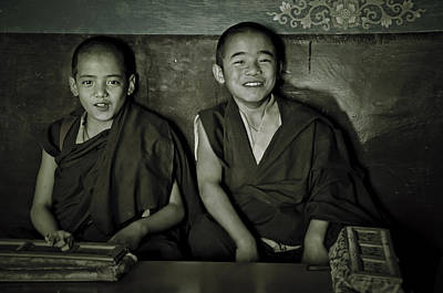 Photograph - Young Buddhist Monks by Valerie Rosen