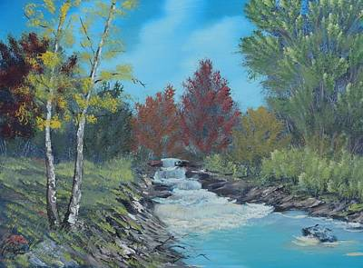 Painting - Young Cascades by Bob Williams