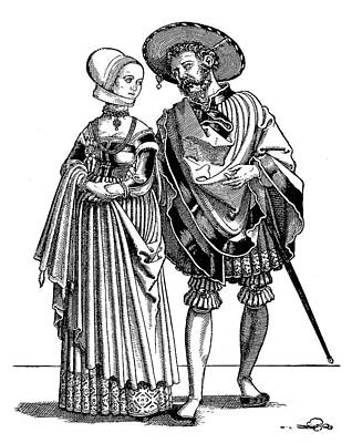 Painting - Young Couple, C1530 by Granger