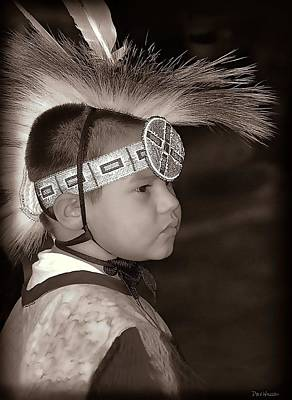 Photograph - Little Wacipi Dancer In Sepia by Dyle   Warren
