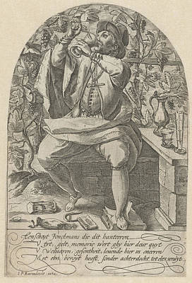 Hourglass Drawing - Young Drinker, Anonymous by Anonymous And Johannes Pietersz. Berendrecht