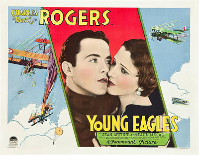 Young Eagles, Us Lobbycard, From Left Art Print by Everett