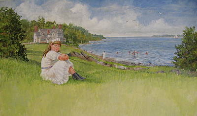 Painting - Young Eleanor by Cliff Spohn