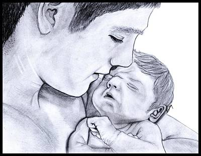Young Father Print by Saki Art