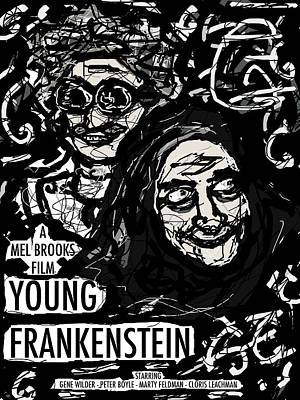 Young Frankenstein Poster Design Art Print