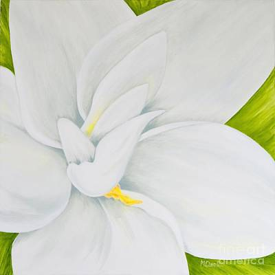 Gardenia Painting - Young Gardenia by Mary Deal