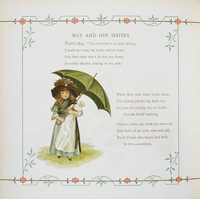 Young Girl Holding An Umbrella Art Print
