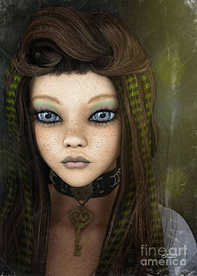 Digital Art - Young Girl by Jutta Maria Pusl