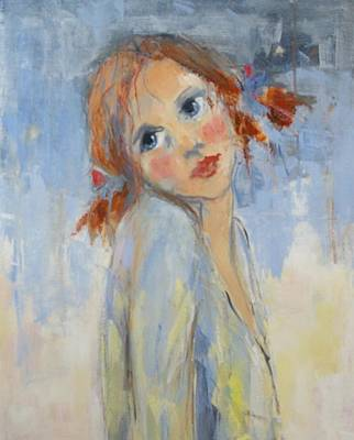 Painting - Young Girl by Lisbeth Courcambeck
