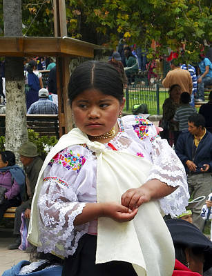 Photograph - Young Girl Of Cotacachi by Kurt Van Wagner
