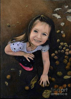 Poke Painting - Young Girl by Ralph Taeger