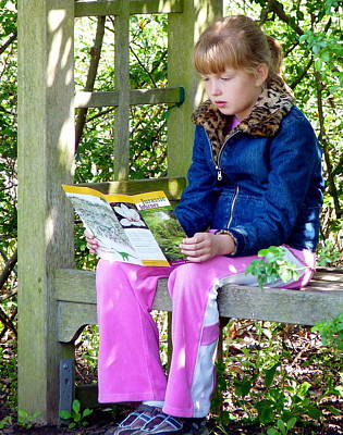 Photograph - Young Girl Reading In The Garden by Jeff Lowe