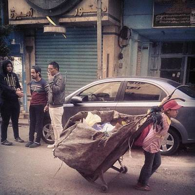 Young Girl Photograph - #young #girl #transporting #rubbish by Hema Ezzat