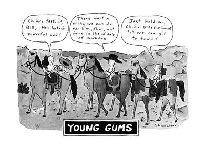 Crying Drawing - Young Gums by Danny Shanahan