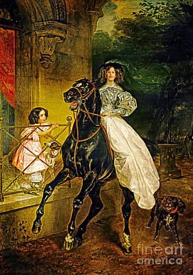Young Horse Rider Art Print