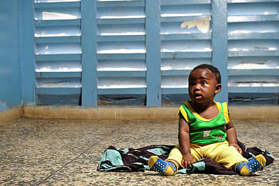 West Africa Photograph - Young Hospital Patient by Matthew Oldfield