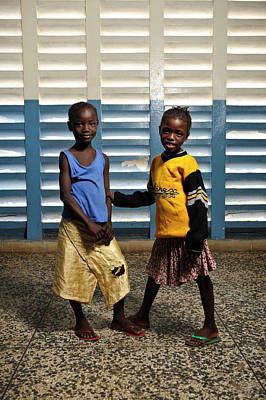 West Africa Photograph - Young Hospital Patients by Matthew Oldfield