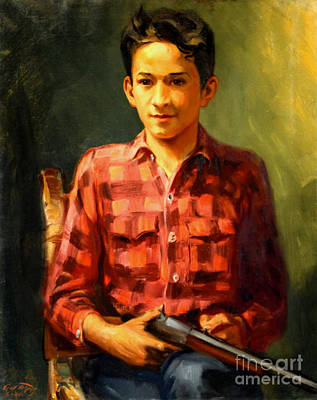 Painting - Young Hunter 1941 by Art By Tolpo Collection