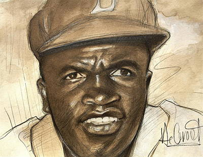 Young Jackie Robinson Original by Gregory DeGroat