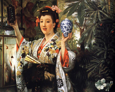 Bamboo Digital Art - Young Japanese Lady by James Jacques Joseph Tissot