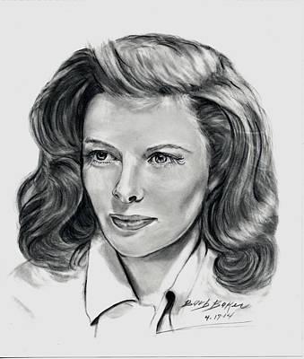 Young Katherine Hepburn Art Print