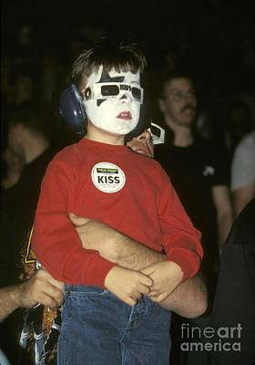 Photograph - Young Kiss Fan by Concert Photos